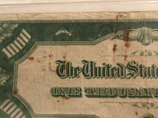 1934 $1000 ONE THOUSAND DOLLAR BILL OLD CURRENCY NOTE DALLAS TEXAS 10