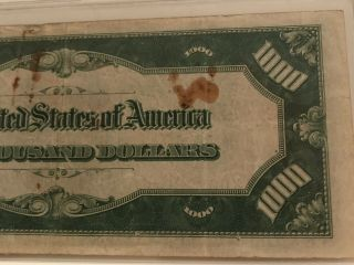 1934 $1000 ONE THOUSAND DOLLAR BILL OLD CURRENCY NOTE DALLAS TEXAS 8
