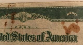 1934 $1000 ONE THOUSAND DOLLAR BILL OLD CURRENCY NOTE DALLAS TEXAS 9