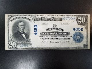 1902 $20 Pb - Seymour National Bank Of Seymour Indiana National - Ch 4652