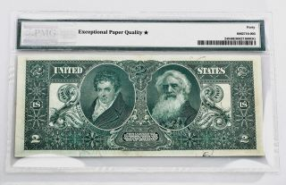 $2.  00 Silver Certificate 1896 Fr 228 PMG Certified Extremely Fine 40 EPQ 2