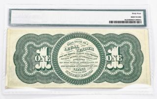 $1.  00 1862 Fr 16c Series 235 - 284 PMG Certified Choice Uncirculated 64 2
