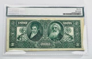 $2.  00 Silver Certificate 1896 Fr 247 PMG Certified About Uncirculated 55 2