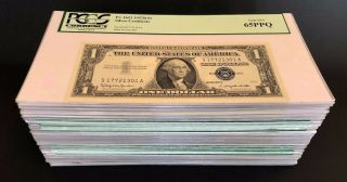 Fr.  1621 1957b $1 Silver Certificate 100 Consecutive Bank Pack All Pcgs Graded
