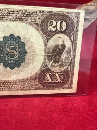 NATIONAL CURRENCY $20 SERIES 1882 THE UNAKA NATIONAL BANK OF JOHNSON CITY (TN) 10