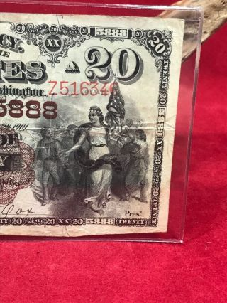 NATIONAL CURRENCY $20 SERIES 1882 THE UNAKA NATIONAL BANK OF JOHNSON CITY (TN) 5