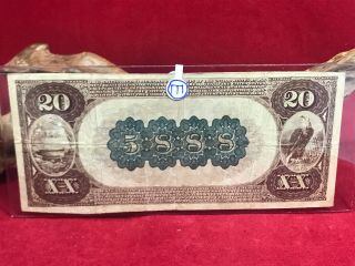 NATIONAL CURRENCY $20 SERIES 1882 THE UNAKA NATIONAL BANK OF JOHNSON CITY (TN) 6