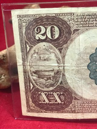 NATIONAL CURRENCY $20 SERIES 1882 THE UNAKA NATIONAL BANK OF JOHNSON CITY (TN) 7