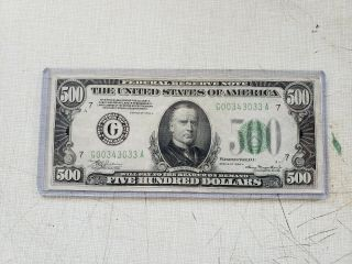 1934a $500 Five Hundred Dollar Bill