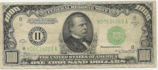 1934 A $1000 Frn Problem - Vf Priced Right