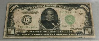 1934 1000 Dollar Federal Reserve Note Series A