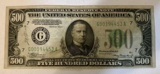 Us $500 Bill - Series 1934 - A
