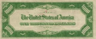 1934 St.  Louis (H) Federal Reserve Note $1000 Thousand Dollar Bill,  Ungraded 2
