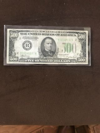1934a $500 Federal Reserve Note York,  York 1day