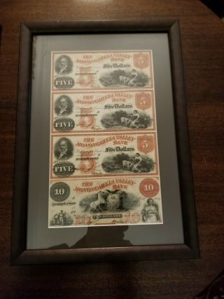 The Monongahela Valley Bank Obsolete $5 And $10 Notes
