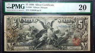 Fr 268 1896 $5 Silver Certificate Educational Very Fine 20