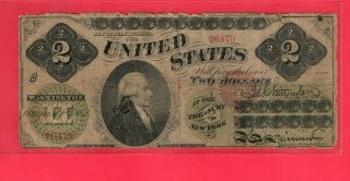 1862 $2.  00 U S Note First Issue Legal Tender