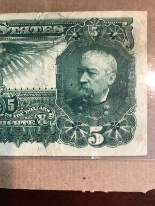 FR 269 $5 1896 EDUCATIONAL Silver Certificate US Currency VF 30PPQ 10
