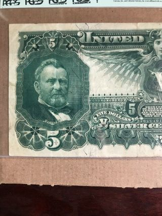 FR 269 $5 1896 EDUCATIONAL Silver Certificate US Currency VF 30PPQ 11