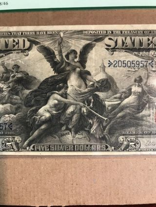 FR 269 $5 1896 EDUCATIONAL Silver Certificate US Currency VF 30PPQ 6