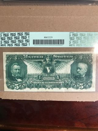 FR 269 $5 1896 EDUCATIONAL Silver Certificate US Currency VF 30PPQ 7