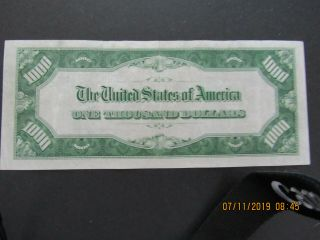 1934 1000 Chicago federal reserve note G00200788A Lime Green 2