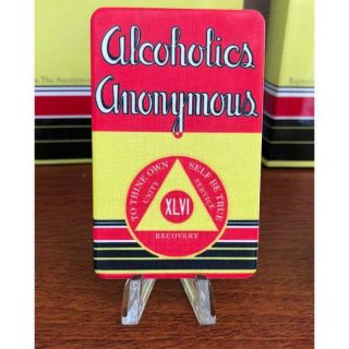 """Aa Big Book """" First Edition """" Yearly Alcoholics Anonymous 46 Year Aa Chip"""