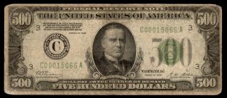 Fr 2200 - C 1928 $500 Frn Five Hundred Dollar Bill Philadelphia