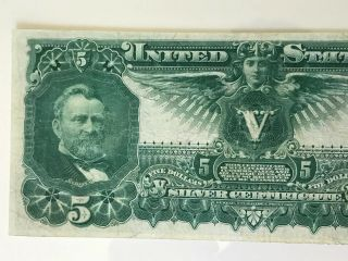 1896 $5 Silver Certificate Fr 269 EDUCATIONAL NOTE Grade 4