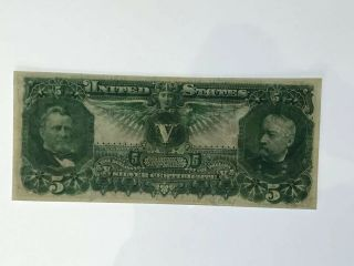1896 $5 Silver Certificate Fr 269 EDUCATIONAL NOTE Grade 5