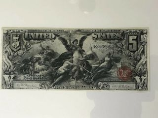 1896 $5 Silver Certificate Fr 269 EDUCATIONAL NOTE Grade 9