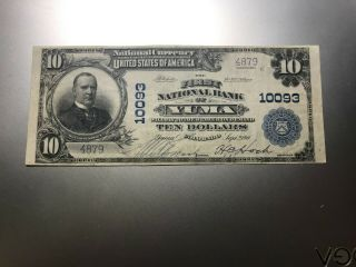 Yuma,  Colorado National Bank Note,  Charter 10093.