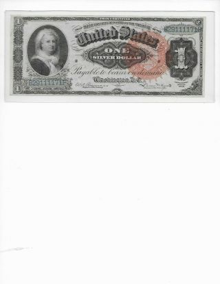 1886 $1 Martha Washington Just In Fr - 217 Bright Note Xf - Au