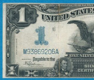 $1.  00 1899 Fr.  236 Black Eagle Silver Certificate Average Circulated Vf