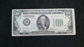 1934 C 100 Dollar Federal Reserve Note St.  Louis $100 Bill Buy It Now