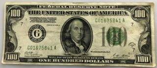 Series Of 1928 A $100 Dollar Federal Reserve Note (redeemable In Gold) Chicago