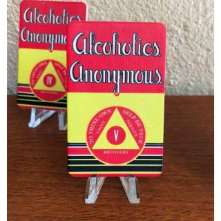 """Aa Big Book """" First Edition """" Yearly Alcoholics Anonymous 5 Year Aa Chip"""