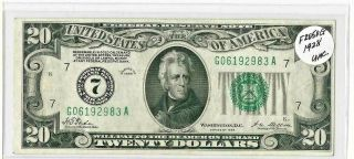 Series 1928 $20 Twenty Dollar Federal Reserve Note With Gold Clause