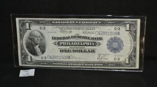 West Point Coins 1914 C - 3 Federal Reserve Philadelphia,  Pa $1 Large Note