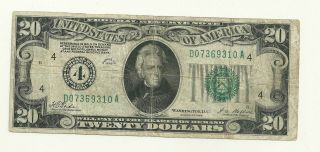1928 Twenty Dollars Note Cleveland