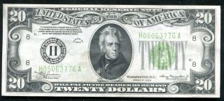 Fr.  2054 - H 1934 $20 Frn Federal Reserve Note St.  Louis,  Mo About Unc