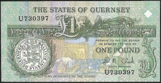 The States Of Guernsey 1 Pound (1991 - _) P:52c Unc