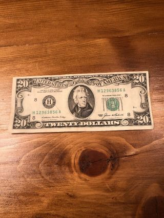 1985 20 Dollar Bill St Louis Missouri Federal Reserve Note