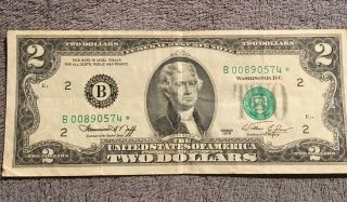 $2 Star Note And Low Serial Number $2 Bill Series 1976