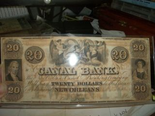 19th Century Bond Note From Canal Bank Of Orleans