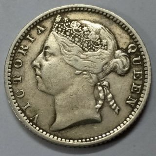 British Straits Settlement Victoria Queen 10 Cents 1899 Low Coin