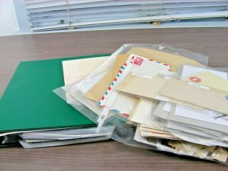 Us,  Accumulation Of Mostly Cut Squares & Stationery