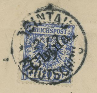 1899 CHINA COVER MIXED FRANKING GERMAN CHINA TO ENGLAND,  CHINGCHOW,  WEIHSIEN 4