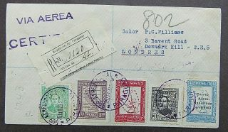 Paraguay - Fine Multiple Franked 1929 Registered Cover To London