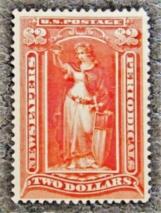 Nystamps Us Newspaper Stamp Pf108 Og H $1500